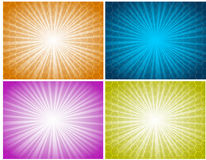 Backgrounds. Illustration of abstract textured backgrounds with highlights stock illustration