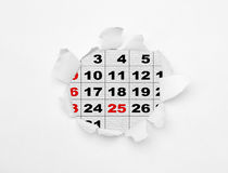 Backgrounds. December 2012-2013 l calendar isolation in white backgrounds Stock Photography