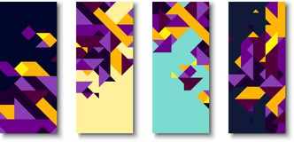 Backgrounds with abstract colorful geometric pattern. vector illustration