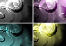 Backgrounds with abstract rings Stock Photos