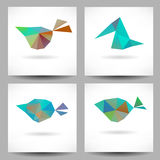 Backgrounds with abstract triangle birds Stock Image