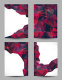 Backgrounds with abstract triangles Stock Photos