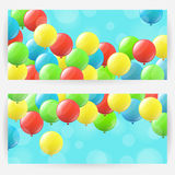 Backgrounds with balloons Stock Image