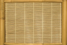 Backgrounds, bamboo screen. Bamboo screen background with frame Royalty Free Stock Photography