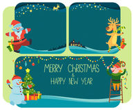 Backgrounds and banner Merry Christmas and Happy New Year Royalty Free Stock Photography