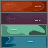 Backgrounds for banners in set Royalty Free Stock Photos