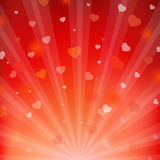 Backgrounds With Beams And Hearts Stock Photos