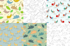 Backgrounds with birds Stock Image