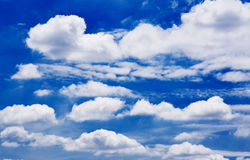 Backgrounds of blue sky Royalty Free Stock Images