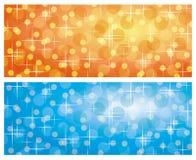 Backgrounds with blurring lights. And sparkles, illustration vector illustration