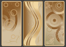 Backgrounds  with brow shade. Three banners with the brow tint Stock Photography