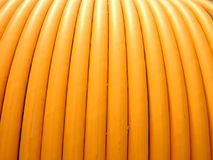 Backgrounds, close-up , electrical wires coil. Backgrounds, close-up , yellow electrical wires coil Royalty Free Stock Photography