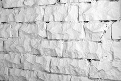 Backgrounds collection - White brick wall Royalty Free Stock Photo