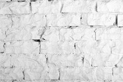 Backgrounds collection - White brick wall Stock Photography