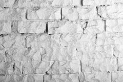 Backgrounds collection - White brick wall Stock Image