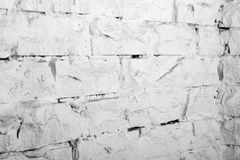 Backgrounds collection - White brick wall Royalty Free Stock Photos