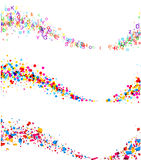 Backgrounds with color waves. Royalty Free Stock Images