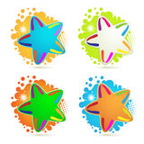 Backgrounds with colored stars Stock Photography