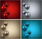 Backgrounds with colorful christmas balls. Stock Photography