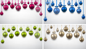 Backgrounds with colorful christmas balls. Stock Image