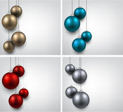 Backgrounds with colorful christmas balls. Royalty Free Stock Photography