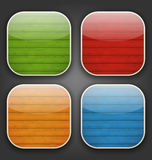 Backgrounds with colorful wooden texture for the a. Illustration backgrounds with colorful wooden texture for the app icons - vector Stock Photography