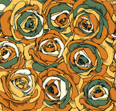 Backgrounds consisting of beautiful roses. Vector Stock Illustration