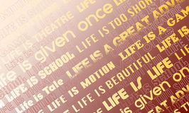 Backgrounds consisting of slogans about life Royalty Free Stock Photo