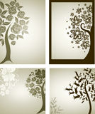 Backgrounds with decorative tree from flowers Royalty Free Stock Photo