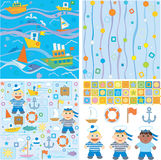 Backgrounds and design elements for baby boy Royalty Free Stock Image