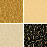 Backgrounds with dollars - vector dollar seamles patterns Stock Image