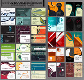 44 Backgrounds for double business cards Stock Photography