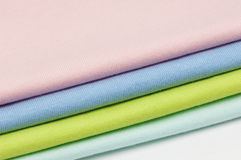 Backgrounds of fabrics and textiles Stock Photos