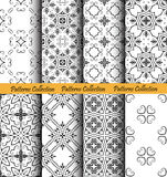 Backgrounds Floral Forged Patterns. Floral backgrounds set. Forged seamless patterns. Elegant ornament for damask wallpaper, fabric, paper, invitation print Royalty Free Stock Photos