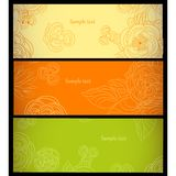 Backgrounds with flowers. Greeting card or abstract backgrounds with flowers stock illustration