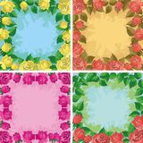 Backgrounds, frames from flowers Royalty Free Stock Photography