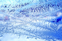 Backgrounds  frost  frozen  ice  window Royalty Free Stock Images