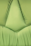 Backgrounds of green leather sofa Stock Photo