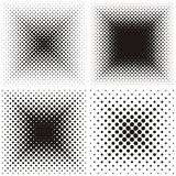 Backgrounds with halftone effect Royalty Free Stock Photos
