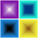 Backgrounds with halftone effect Stock Images
