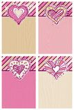 Backgrounds with hand draw  hearts Stock Image