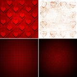 Backgrounds with hearts Stock Photography