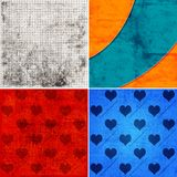Backgrounds with hearts Royalty Free Stock Photos