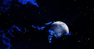 Backgrounds night sky Stock Image
