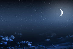Backgrounds night sky Royalty Free Stock Images