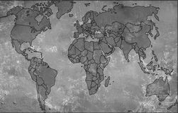 Backgrounds-old map Royalty Free Stock Images