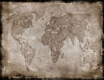 Backgrounds-old map Royalty Free Stock Image