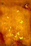 Backgrounds old paper butterflies Stock Images