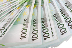 Backgrounds of one hundred euro. Isolated Royalty Free Stock Photo