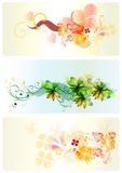 Backgrounds patterned set Stock Photography